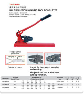 Multi-Function Swaging Tool for Wire Cable pictures & photos