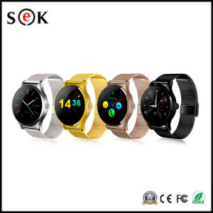 K88h Leather Watch Strap Bluetooth Smart Watch for Android and Ios Phones IP54 Ogs Screen pictures & photos