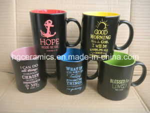 11oz Spray Color Mug with Laser Logo, Color Spray Mug pictures & photos