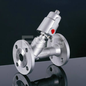 Pneumatic Angle Seat Valve with Flange Ends pictures & photos