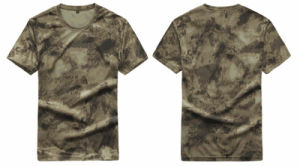 fashion Dry Fit Round Neck Breathable Commandos Slim Camouflage T Shirt pictures & photos