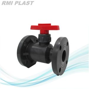 Lever Handle CPVC Flange Ball Valve pictures & photos