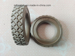 Diamond Pattern Natural Rubber High Elastic Rubber Wheel (6*1.5) pictures & photos