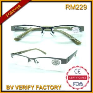 RM229 Rimless Reading Glasses Half Frame Eyeglass pictures & photos