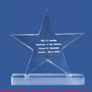 Star Shape Customize Clear Office Decoration Resin Souvenir pictures & photos