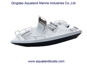 China Aqualand 21feet 6.3m Fiberglass Fishing Boat/Center Console Speed Boat pictures & photos