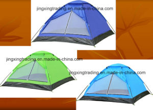 Economical Waterproof Polyester Single-Skin Camp Tent for 2 Persons (JX-CT017) pictures & photos