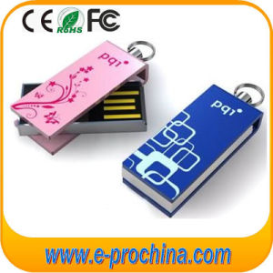 Custom Logo Swivel Pen Drive Flash Memory USB Drive (ED018) pictures & photos