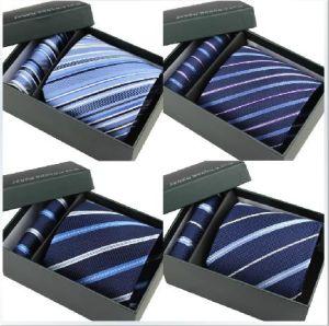 Tie Sets Pocket Square Cufflink Matching Gift Necktiebox-68 (wsnt-68) pictures & photos