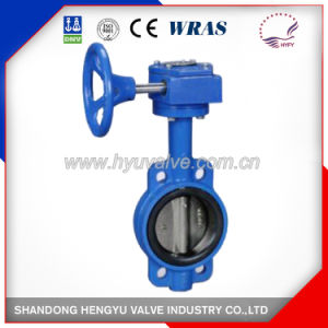 Industrial Wafer Type Butterfly Valve with Gear Operator pictures & photos