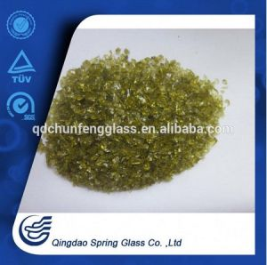 Brown Clear Glass Particles for Wholesale pictures & photos