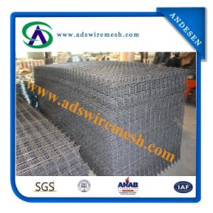 6 Gauge Black Steel Welded Wire Mesh Panel pictures & photos