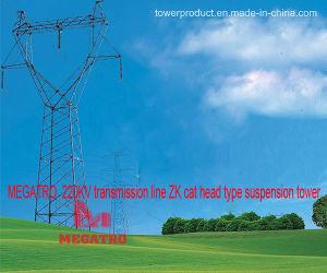 Megatro 220kv Transmission Line Zk Cat Head Type Suspension Tower pictures & photos