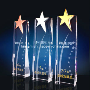 Five-Star Metal Crystal Glass Trophy Craft pictures & photos