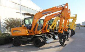 Small Excavator Wheel Digger with Grabber pictures & photos