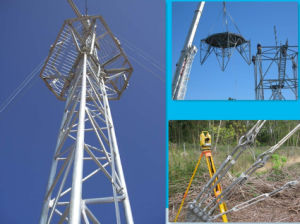 Galvanized Communication Lattice Steel Guy Wire Tower pictures & photos