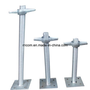 Galvanized Scaffold Solid Screw Base Jack pictures & photos