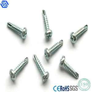 Carbon Steel Round Head Self Drilling Screws (DIN7504) pictures & photos