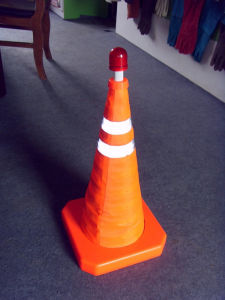 Retractable PP Road Safety Traffic Cones pictures & photos