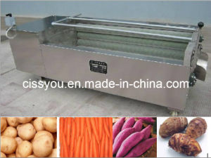 Potatoes Carrots Ginger Taro\Kiwi Vegetable Fruit Washing Peeling Machine pictures & photos