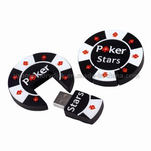 Funny Cartoon Poker Chip USB Flash Disk Drive (CT-010)