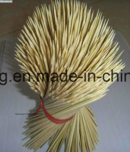 BBQ Stick Bamboo Skewer with Custom Logo/ Small Bamboo Sticks pictures & photos