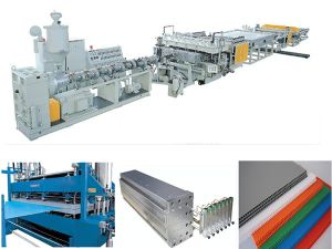 PC PP Hollow Grid Plate Extrusion Line pictures & photos