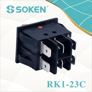 Double Lighted on off Rocker Switch pictures & photos