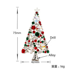 Colorful Crystal Christmas Tree Brooch New Hot Sales High-End Atmosphere Brooches for Clothes Decoration Brooch pictures & photos