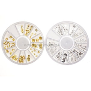 DIY 3D Metal Nail Art Decoration Beauty Products Wheel (D82)