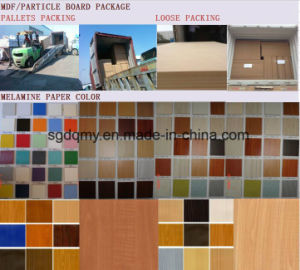 Hotsale Black Walnut Melamine MDF Board 18mm pictures & photos
