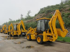 Mini Front and Backhoe Loader Wz30-25 pictures & photos