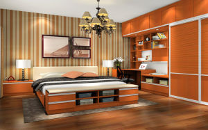 Solid Wood Sliding Door / Swing Door Wardrobe (zy-020) pictures & photos