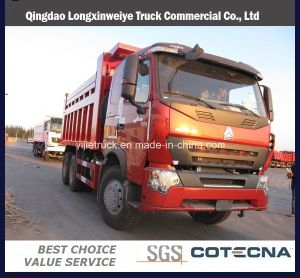 HOWO 6X4 Dump Truck with Middle Tipper System pictures & photos