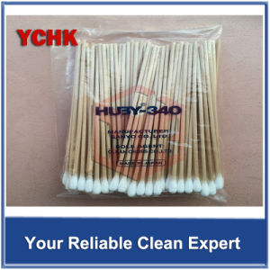 Cleanroom Products Cleaning Swabs Industrial Single End Disposable Wood Long Stick Cotton Swab pictures & photos