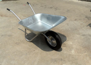 Russian Market Galvanized Tray Wheel Barrow pictures & photos