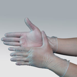 Clear Color /Blue Color Disposable PVC Gloves for Food Industry pictures & photos