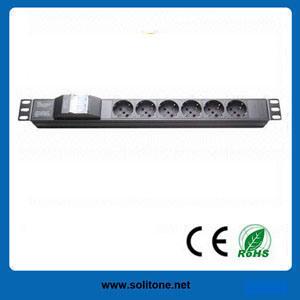 PDU, Italy Plug Socket, 6-Way Socket, 16A, Size 1u pictures & photos