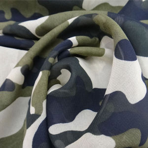 Polyester Fabric Camouflage Chiffon Fabric pictures & photos