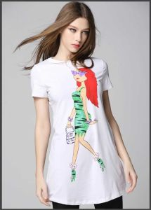 Custom Designer Fashion Printing Women′s Wimmer T-Shirt pictures & photos