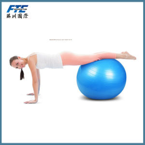 Gym Yoga Ball with Foot Pump in Blue pictures & photos