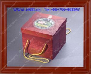 High Quality Portable Rigid Cardboard Mooncake Packaging Box pictures & photos