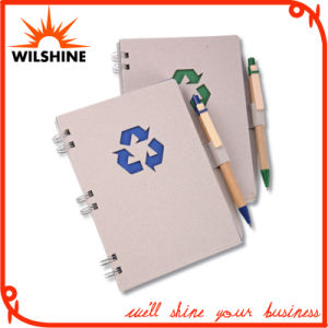 Kraft Paper Cover Spiral Notebook with Pen (SNB129) pictures & photos