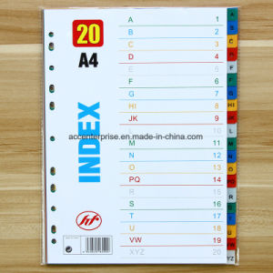 PP A4 Jan-DEC Index Divider, Tab Divider, Index Cards pictures & photos