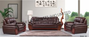 Brown PVC Modern Office Furniture Sofa pictures & photos