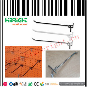 Shop Fitting Zinc Palting Slatwall Display Hook pictures & photos