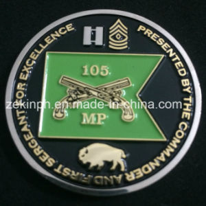 Factory Two Tone Plated Challenge Coins pictures & photos