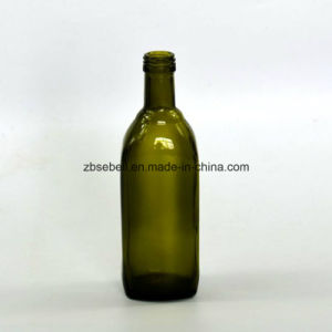 500ml Square Shape Glass Bottle for Olive Oil Container (NA-026) pictures & photos
