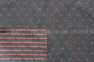 Cationic T/R Embroidery Fabric, 66%Polyester 32%Rayon 2%Spandex, 300GSM pictures & photos