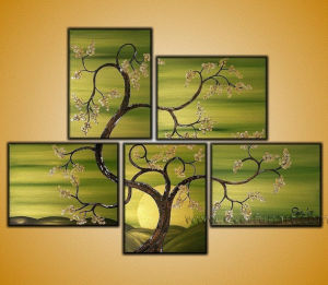 Handmade Modern Wall Canvas Art Landscape Art Tree Oil Painting on Canvas (LA5-045) pictures & photos